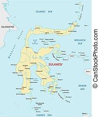 sulawesi, mapa