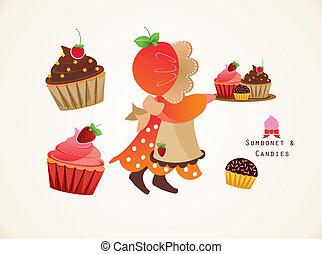 sumbonet, cupcake
