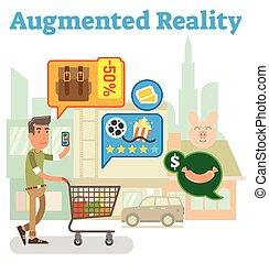 suministro, augmented, cadena, realidad