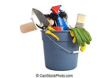 Suministros de limpieza de primavera