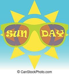 Sun llevaba gafas de sol