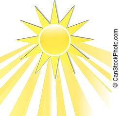 Sun Rays icono logo