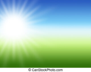 sunray, verano, plano de fondo