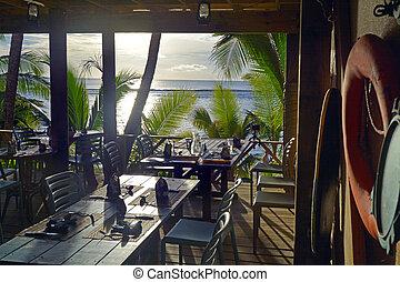 Sunset Paisaje Rarotonga cocina islas