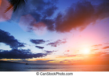 Sunset sobre el océano