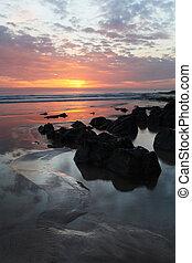 Sunset Woolacombe al norte devon Coast