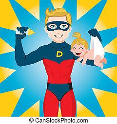 Super héroe papá