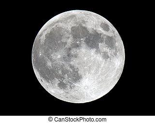 superficie lunar, foto, sumamente, detallado