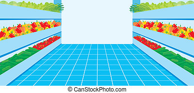 Supermercado. Un número vegetal