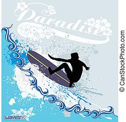 surf, ondas