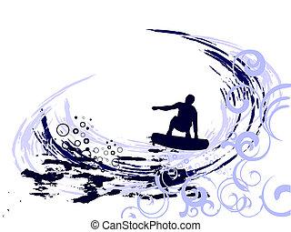 surf, -, verano