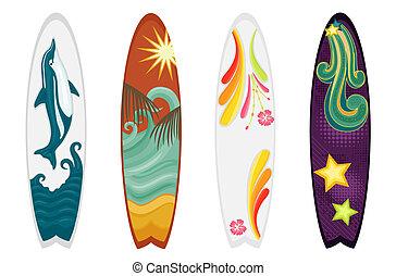Surfboards de cuatro