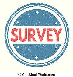 Survey grunge sello de goma