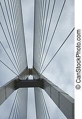 suspensión, apoyo, puente