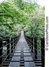 suspensión, bajas, shiomi, puente