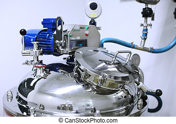 suspensiones, reactor, tablets., investigación drug, fabricación, centro, solutions., líquido, industry., habitación, limpio, reactors, farmacéutico, fabricación, suspensiones, área, soluciones, farmacia, planta, producción