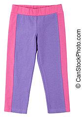 sweatpants, blanco, purple-pink, aislado