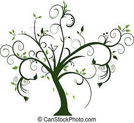 swirly, árbol