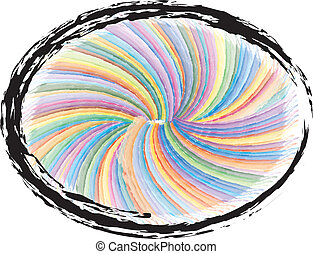 swirly, grunge, colorido, plano de fondo
