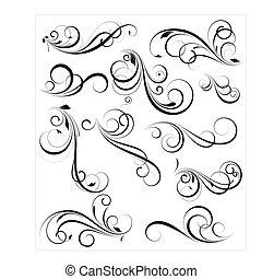 swirly, vectors, diseñe elementos