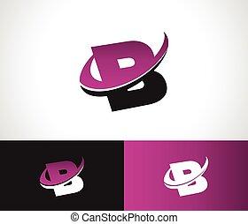 Swoosh alfabeto B icono