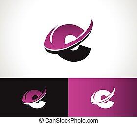 Swoosh alfabeto C icono