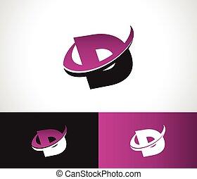 Swoosh alfabeto D icon