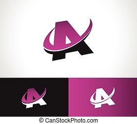 Swoosh alfabeto un icono