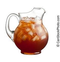 té, cántaro, hielo