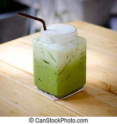 Té helado verde