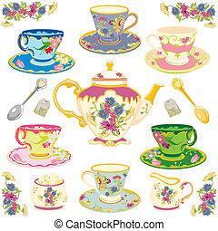 té, victoriano, conjunto