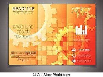 Técnica de diseño tri-pliego de folletos