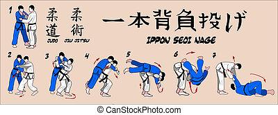 técnica, judo, proyección