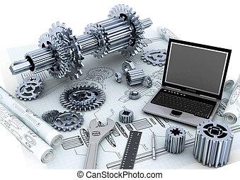 técnico, concepto, ingeniería