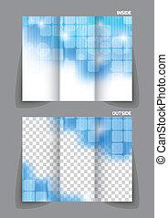 Técnico folleto de tri-pliegue