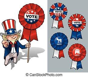 Tío Sam quiero que voten