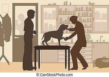 Tónico de la clínica veterinaria