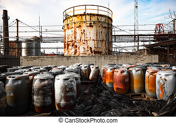 tóxico, barriles