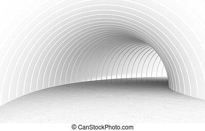 túnel, blanco