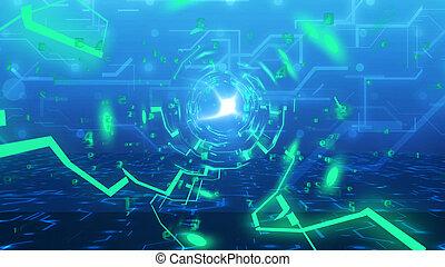 Túnel de tecnología de la imitación del tablero de circuitos