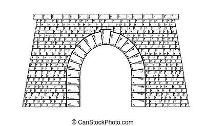 túnel, piedra