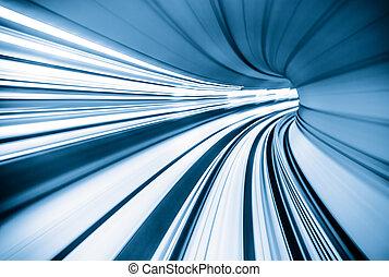 túnel, resumen, tren, mudanza
