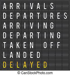 tabla, aeropuerto, salida