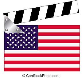 Tabla de claqué con bandera de EE.UU