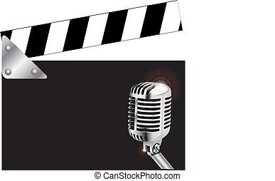 Tabla de claqué con micrófono