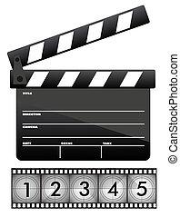 Tabla de claque de películas