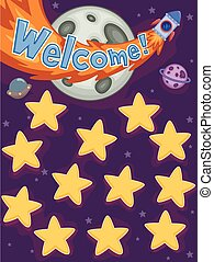 Tabla de nombres de estrellas del espacio exterior