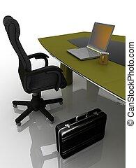 tabla, lugar de trabajo, negociaciones
