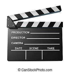 tabla, símbolo, negro, aplauda, películas