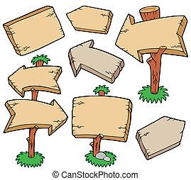 tablas de madera, colección